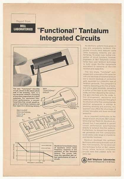 Bell Telephone Lab Tantalum Integrated Circuits (1967)