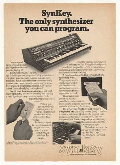 SynKey Programmable Synthesizer (1976)