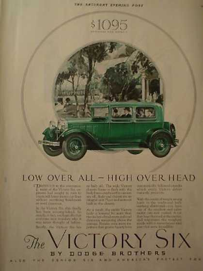 Dodge Brothers Victory 6 AND Sinclair Opaline Motor Oil (1928)