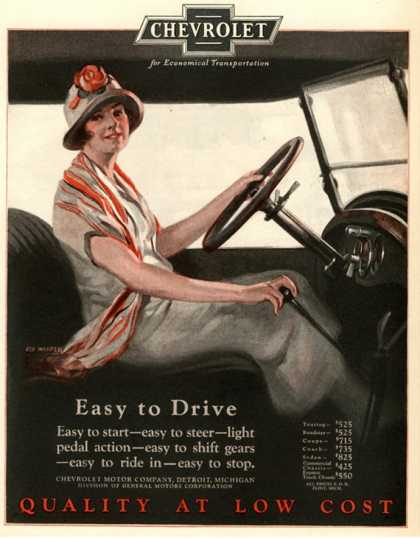 Chevrolet, Women Woman Drivers Driving Cars, USA (1920)