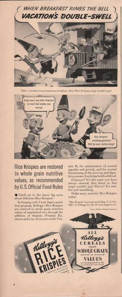 Kelloggs Rice Krispies Cereal (1942)