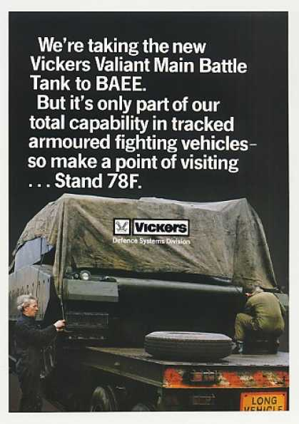 Vickers Valiant Main Battle Tank to BAEE Photo (1980)