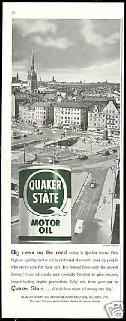 Stockholm Sweden Photo Quaker State Oil (1959)