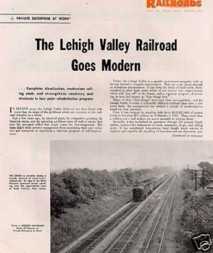 """The Lehigh Valley Railroad Goes Modern"" Article (1951)"