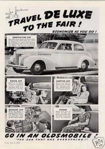 "Oldsmobile Car Ad ""Travel Deluxe (1939)"