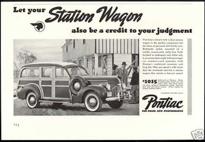Pontiac Woody Station Wagon Car Photo (1940)