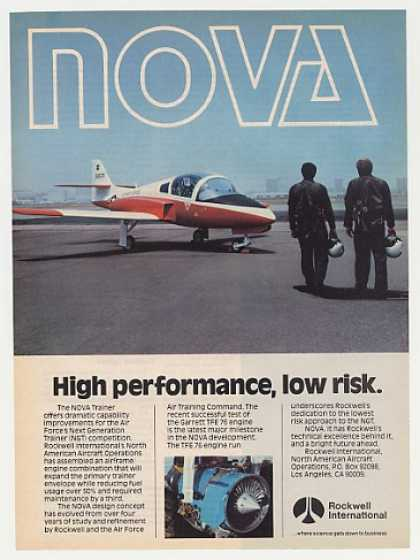 Air Force Rockwell Nova Trainer Aircraft Photo (1982)