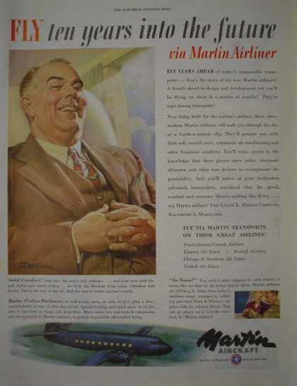 Martin Aircraft Airplane Plane Ten years into future (1946)