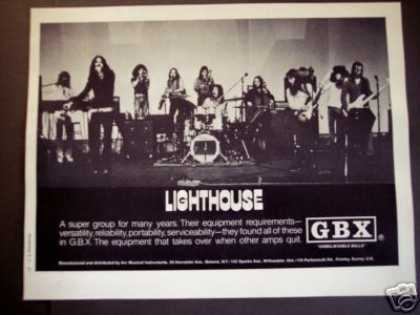 Lighthouse Band Photo Gbx Amps (1973)