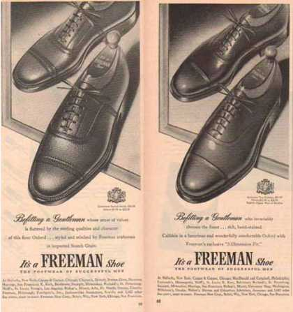 Freeman Shoe Ads – Set of Two (1951)