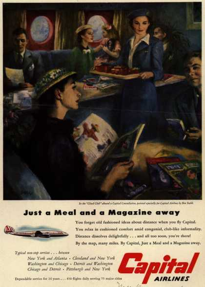 Capital Airlines – Just a Meal and a Magazine away (1951)