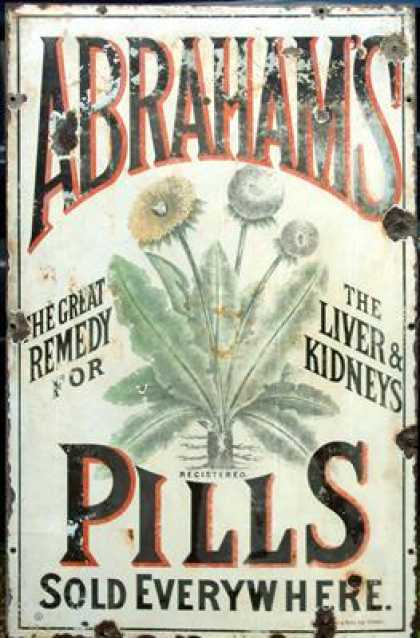 Abraham's Pills Sign