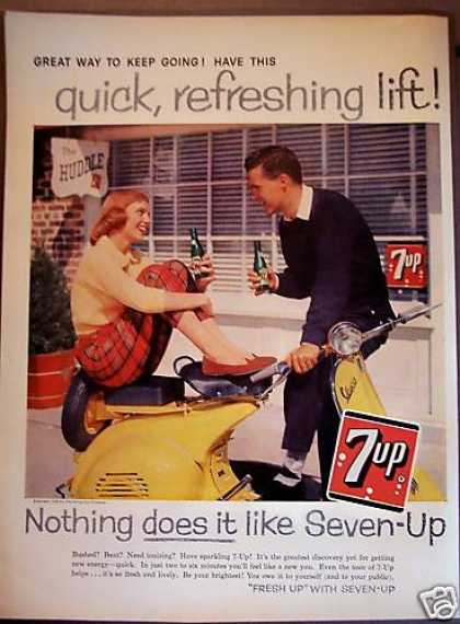 7up Seven-up Soda Pop Soft Drink (1958)