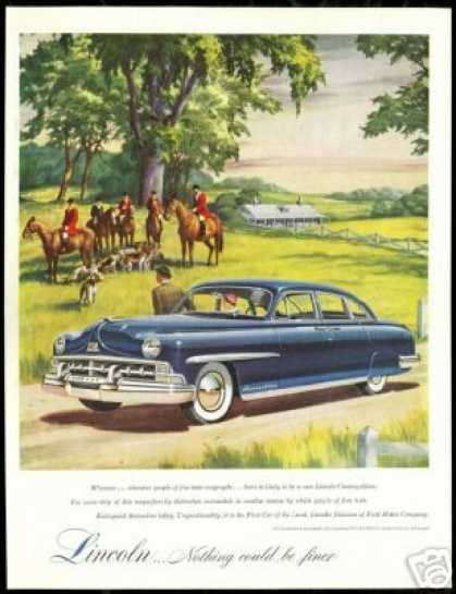 Lincoln Cosmopolitan Horse Fox Hunt Dogs Car (1950)