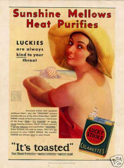 Lucky Strike Cigarettes Color (1931)
