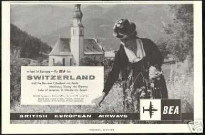Switzerland Photo BEA British European Airways (1959)