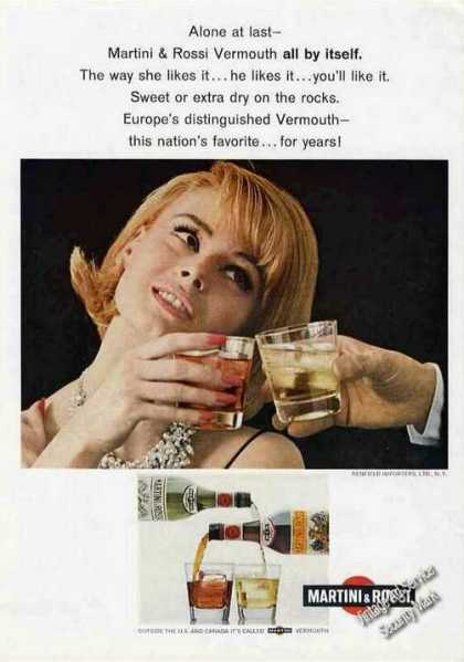 Martini & Rossi Vermouth All By Itself (1966)