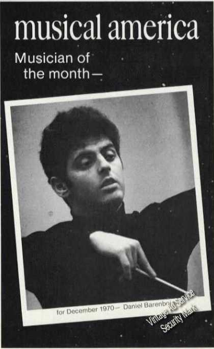 Daniel Barenboim Musician of Month Print Feature (1971)