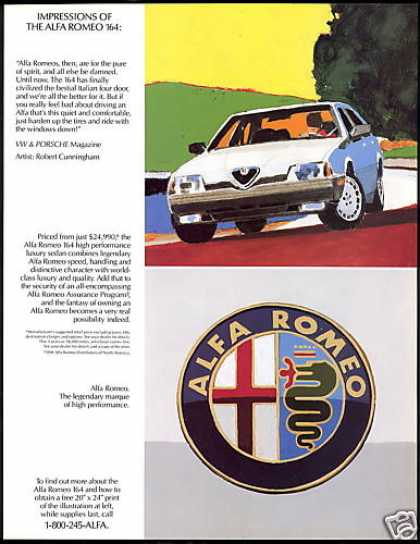 Alfa Romeo 164 Italian Sports Car 2 page (1991)
