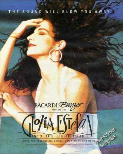 Gloria Estefan Photo Bacardi Breezer (1991)