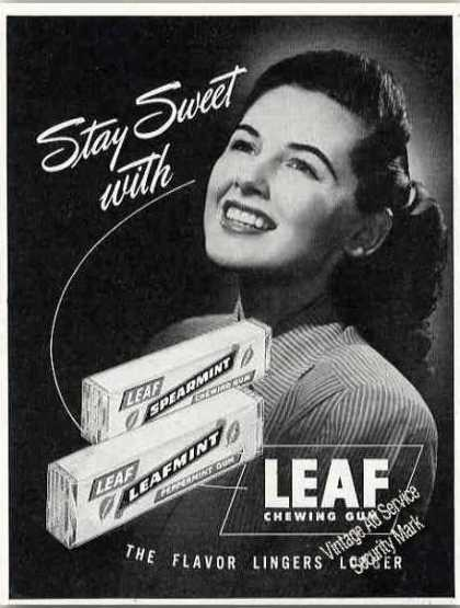 Leaf Chewing Gum Collectible (1947)