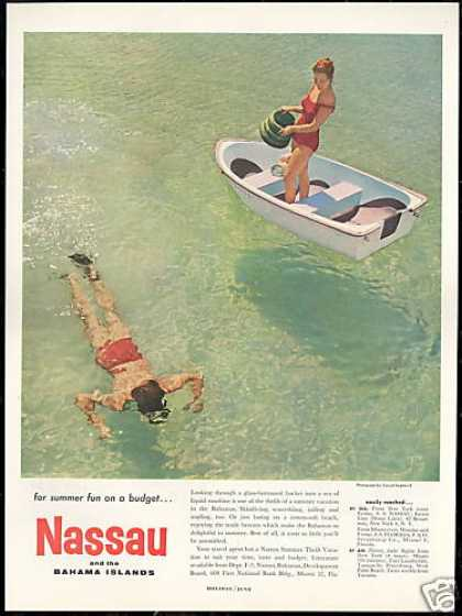 Nassau Bahamas Glass Bottom Bucket Diver (1959)