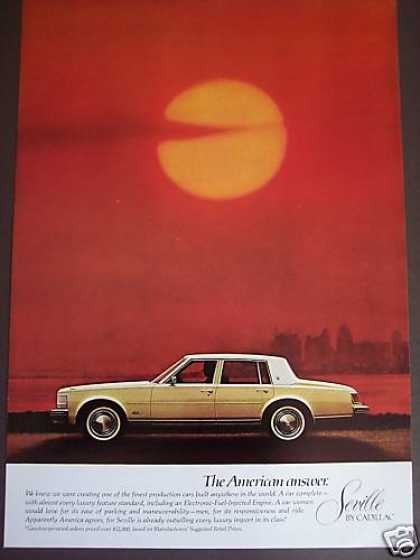 Cadillac Seville Red Sky Photo Car (1976)