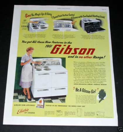Gibson Electric Range (1951)