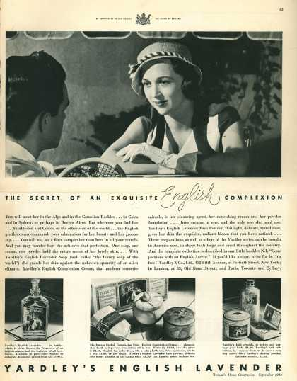 Yardley & Co., Ltd.'s Various – The Secret Of An Exquisite English Complexion (1932)