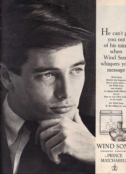 Prince Matchabelli's Wind Song Cologne Parfumee (1964)