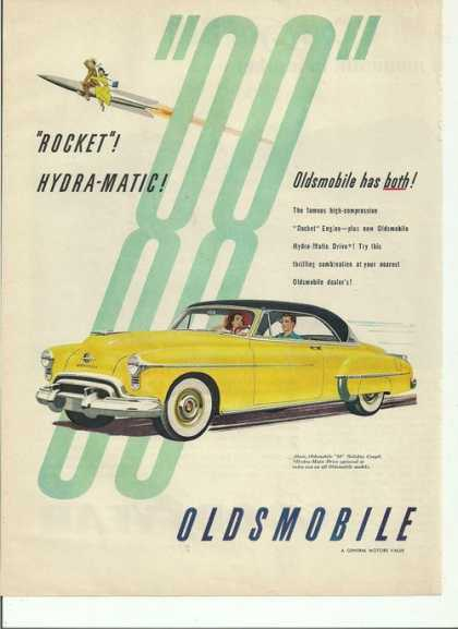 Rocket Hydramatic Oldsmobile Yellow Car (1950)