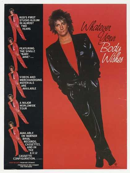Rod Stewart Body Wishes Album Promo Photo (1983)