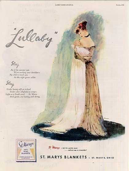 """St. Marys Blankets Ad """"Lullaby"""" (1946)"""