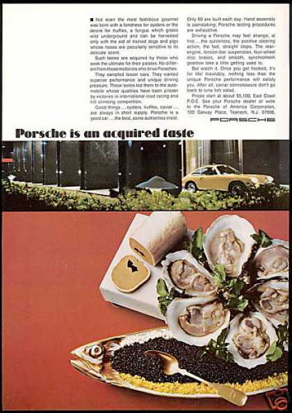Porsche Car Acquired Taste Caviar Oyster Photo (1969)