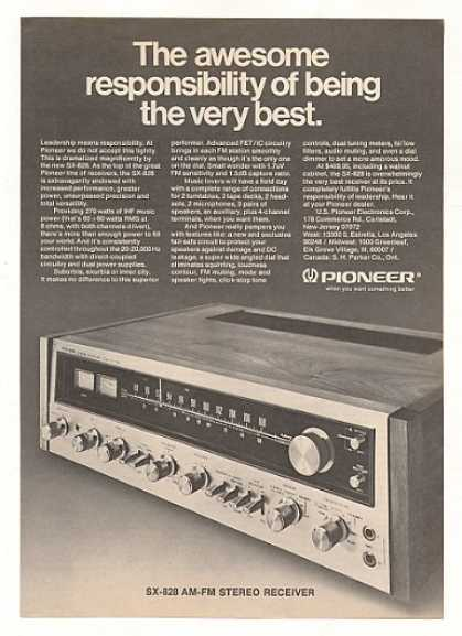 Pioneer SX-828 Stereo Receiver (1973)