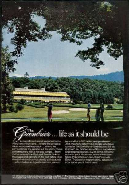 Golf Course Greenbrier Resort West Virginia (1973)