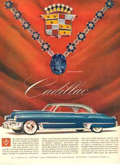Cadillac Car – Blue with Jewels – Sold (1949)