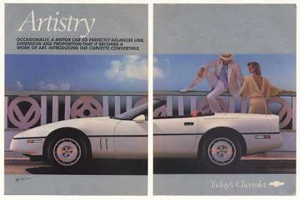 Chevy Corvette Convertible Artistry 2-Pg Photo (1986)