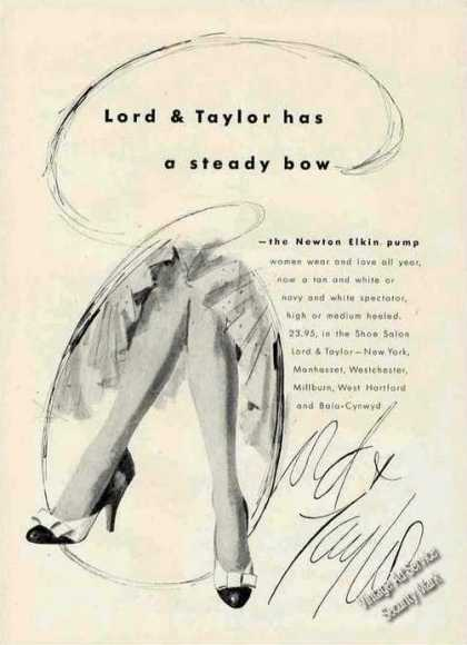 Newton Elkin Pump Lord & Taylor Fashion (1955)