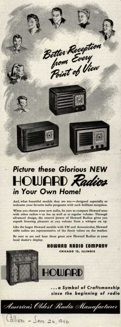 Howard Radio Company's Various – Picture these Glorious New Howard Radios in Your Own Home (1946)
