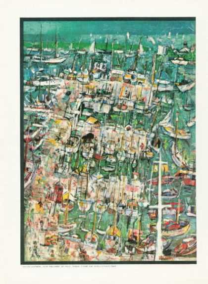 New Orleans Yacht Harbor Painting By Paul Ninas (1958)