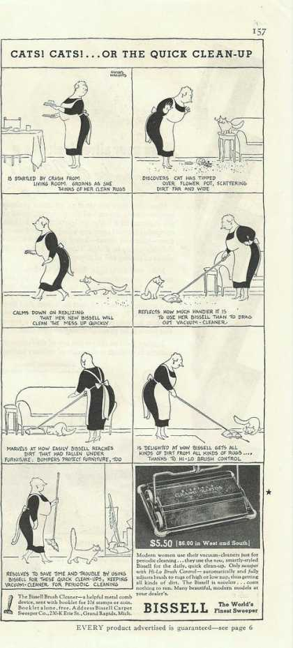 Worlds Finest Sweeper Bissell Cartoon (1935)