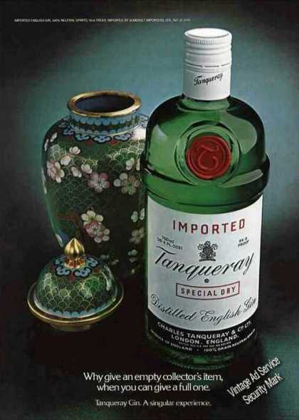 "Tanqueray Gin ""Collectors Item"" Bottle (1979)"