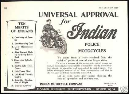Indian Police Motorcycle Ten Merits (1928)