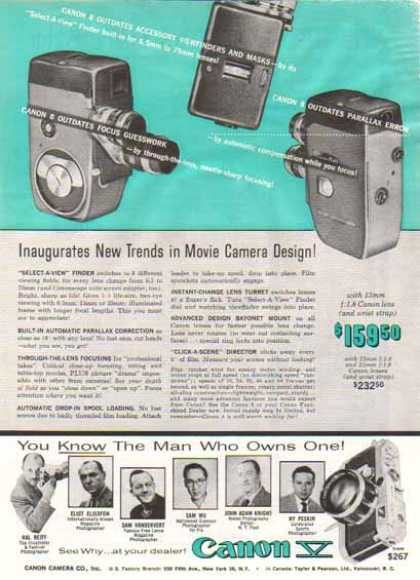 Canon V Camera – New Trends in Movie Camera Design (1957)