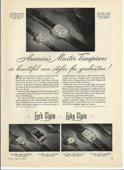 Lord Elgin & Lady Elgin Watch (1941)