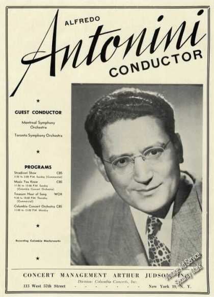 Alfredo Antonini Photo Conductor Trade (1947)