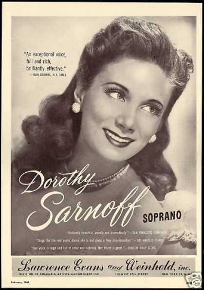 Dorothy Sarnoff Photo Reviews Booking (1949)