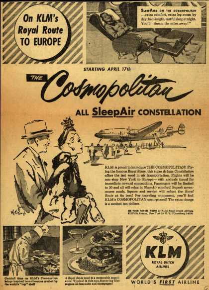 KLM Royal Dutch Airline's Cosmopolitan All SleepAir Constellation – The Cosmopolitan All SleepAir Constellation (1951)