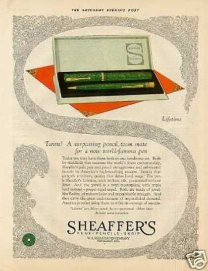 Sheaffer's Pen & Pencil Color (1925)